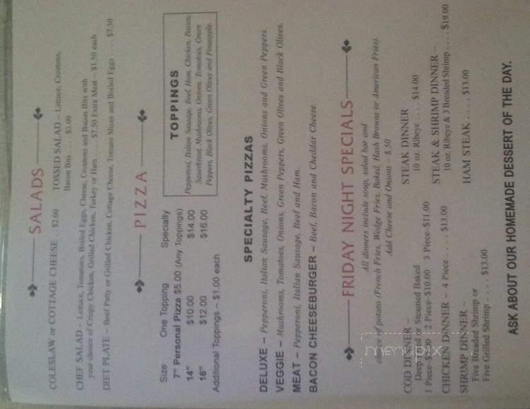 Menu Of Red Room Bar Amp Restaurant In Dodgeville Wi 53533