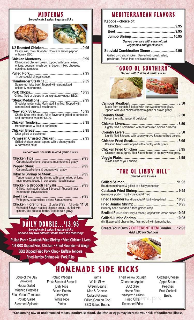 Menu Of University Kitchen In High Point Nc 27262