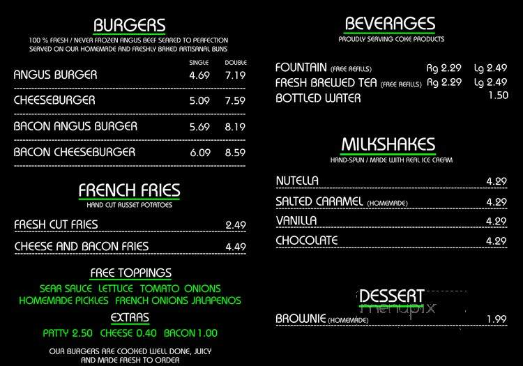 Menu of The Sear Shack in Collierville, TN 38017