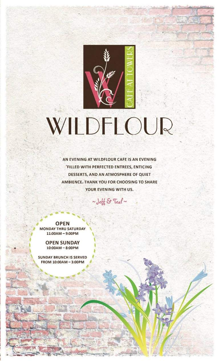 Menu of Wildflour Cafe in Roanoke, VA 24015