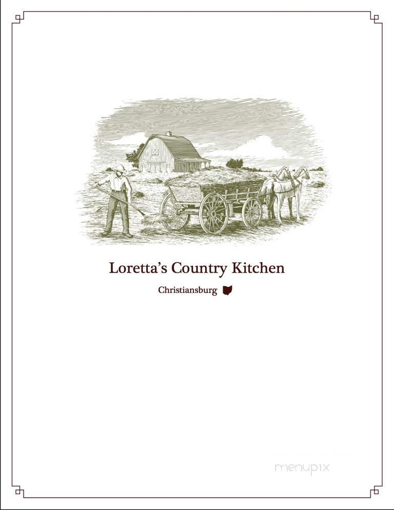 Online Menu Of Loretta S Country Kitchen Christiansburg Oh