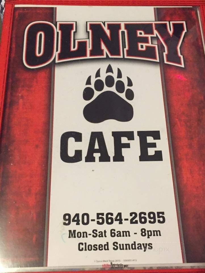 Online Menu Of Olney Cafe Olney Tx