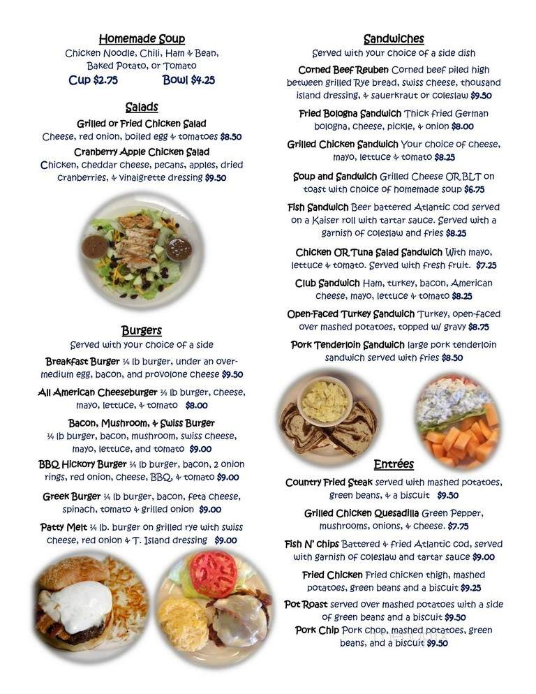 Online Menu Of Anne S Kitchen Southern Style Powell Oh