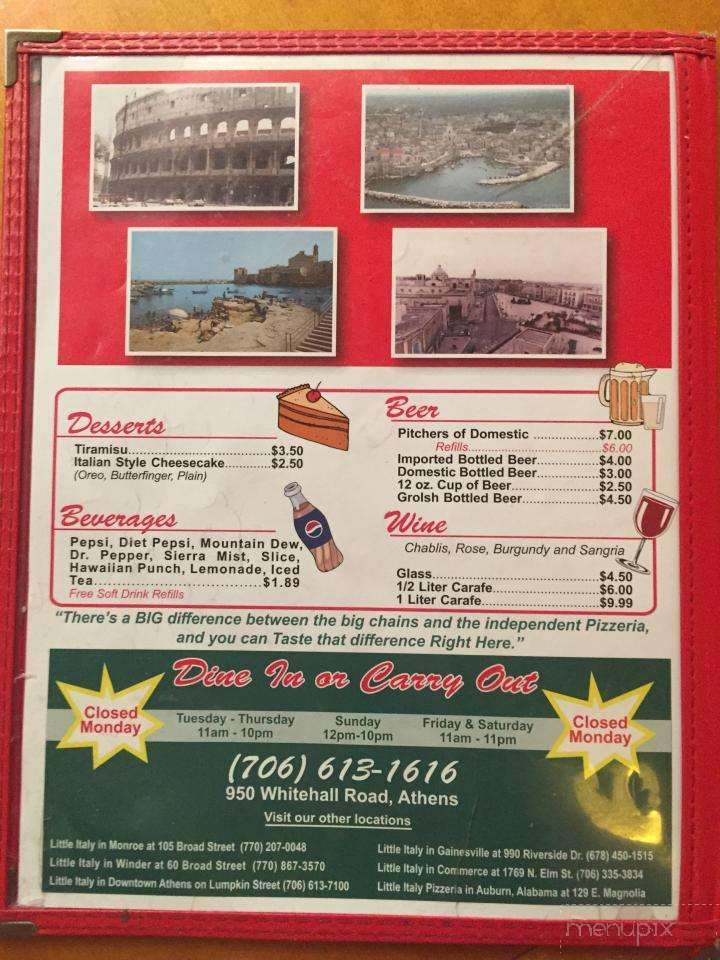 Peppino S Pizza: Menu Of Peppino's Pizza In Athens, GA 30605