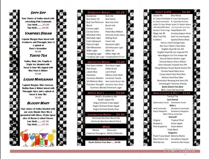Online Menu Of Lug Nuts Cafe Huntsville Oh