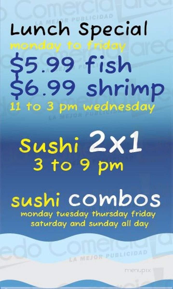 Menu Of La Laguna Mariscos Sushi In Laredo, TX 78045