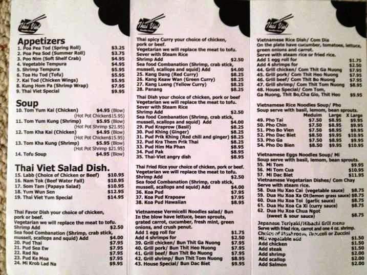 Online Menu Of Thai Viet Noodles House Indian Trail Nc