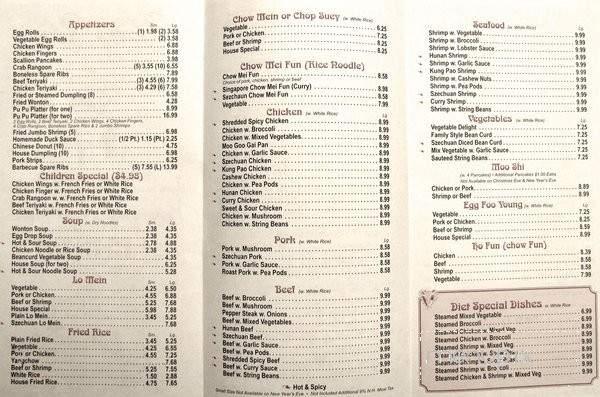 menu of yang yang kitchen in nashua nh 03062