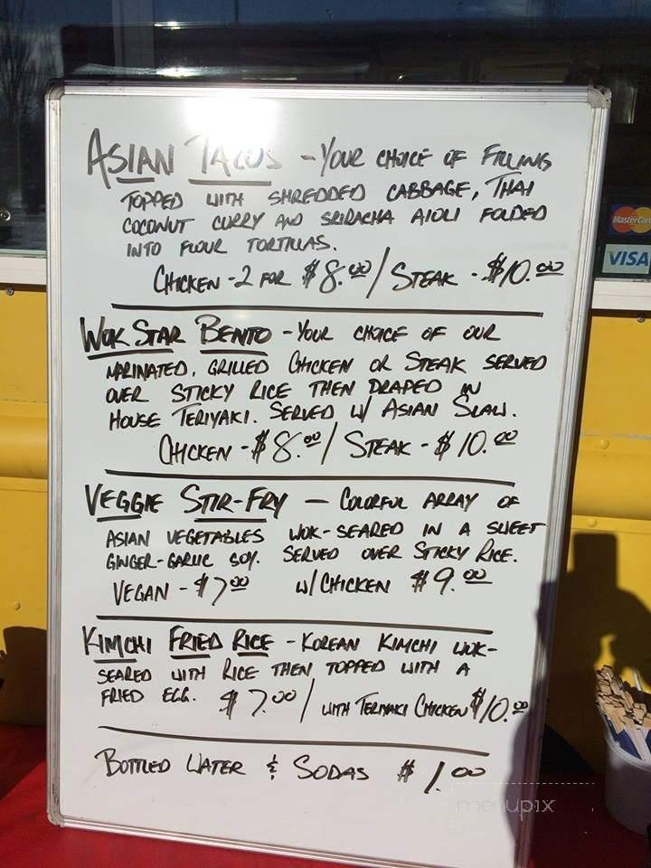 Menu Of Wok Star Food Truck In Medford, OR 97501