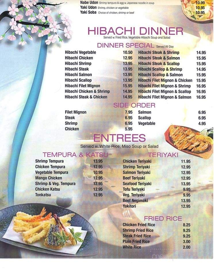 Excellent Menu Of Tokyo Japanese Restaurant In Statesboro Ga 30458 Home Remodeling Inspirations Basidirectenergyitoicom