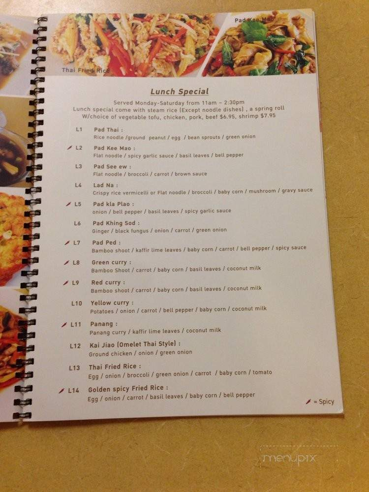 Online Menu Of Golden Thai Kitchen Phoenix Az