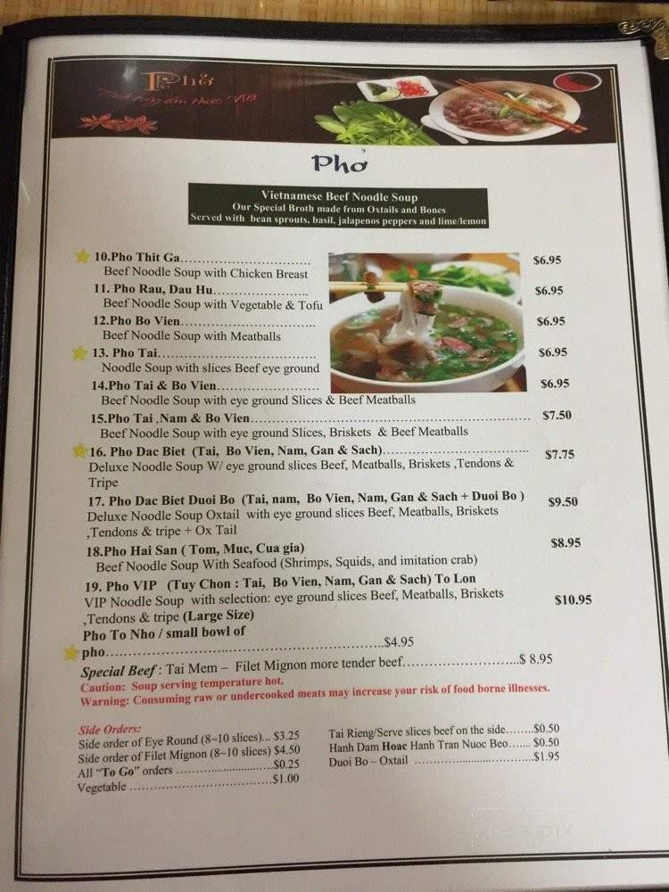 Online Menu Of Pho Viet Nam Chandler Az