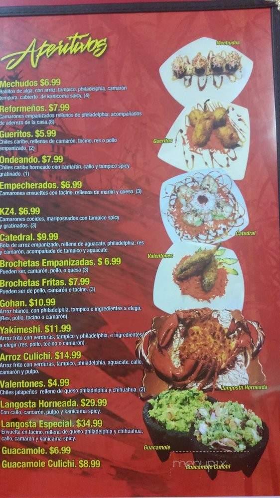 Menu Of Sushi Culiacan In Las Vegas, NV 89104