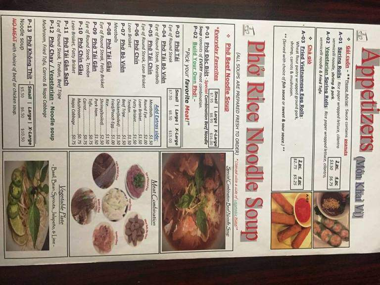 Online Menu of Pho Viet, Wichita Falls, TX