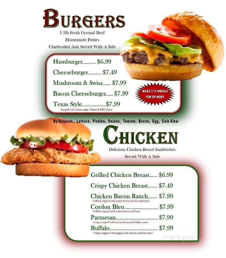 Menu of Southside Bar & Grill in Bowling Green, MO 63334