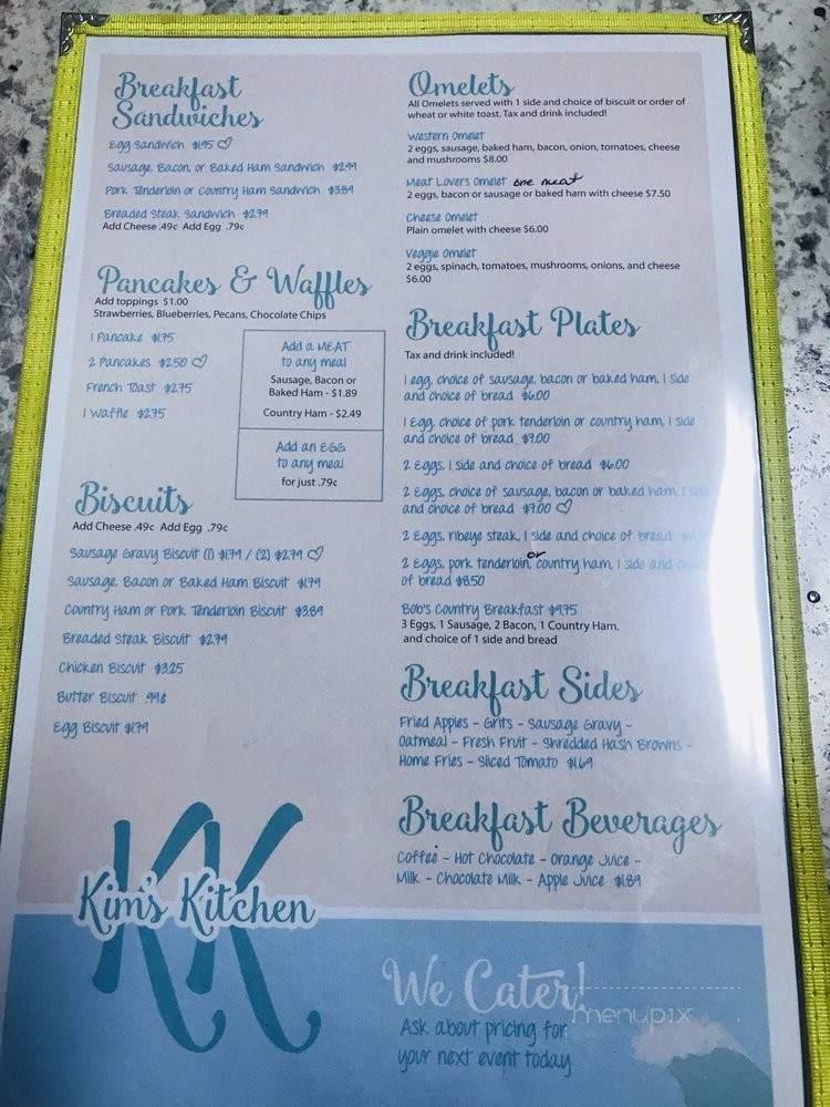 Menu Of Kim S Kitchen In Chatham Va 24531