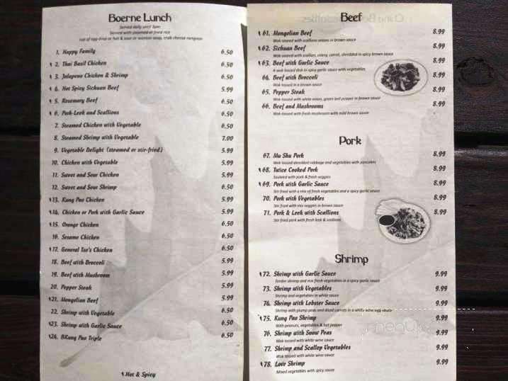 Menu Of China Bowl In Boerne Tx 78006