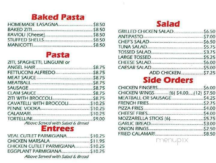 Menu Of Luca S Pizza In Middlesex Nj 08846