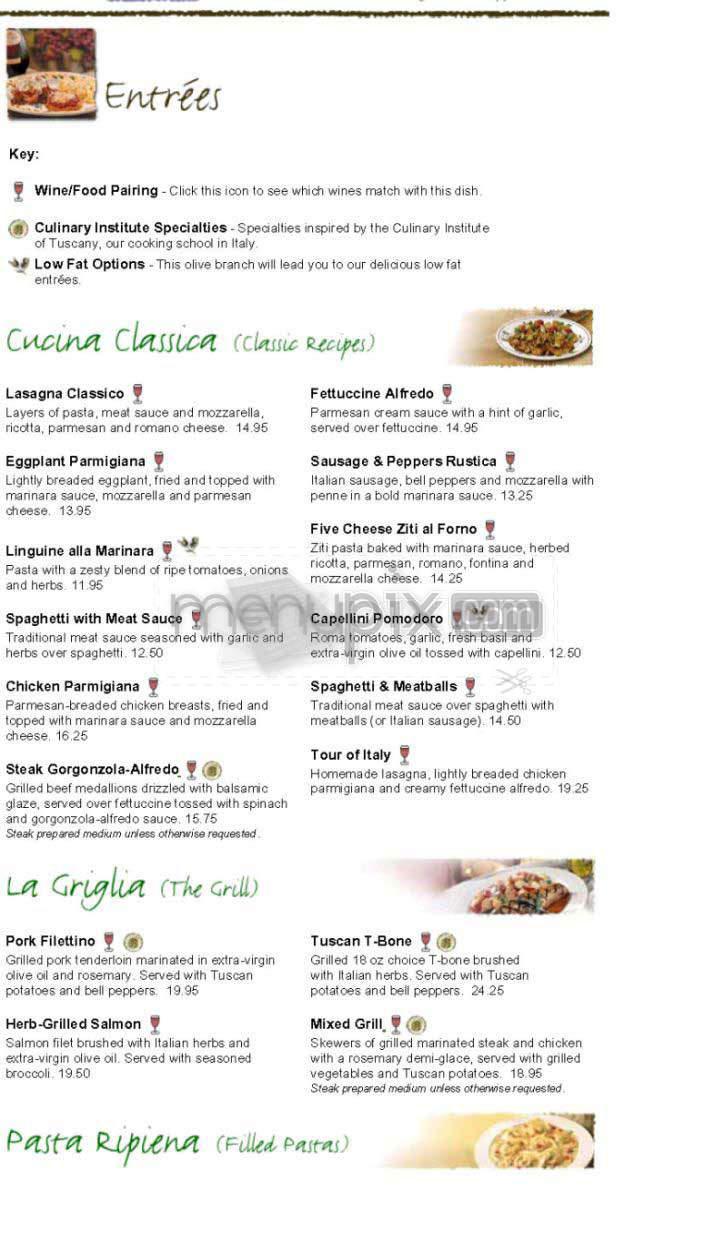 Pizza Olive Garden Menu: Online Menu Of Olive Garden Italian Restaurant, Tulsa, OK