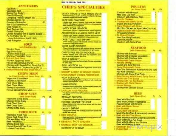 Menu Of Golden Pagoda In Bristol Ct 06010