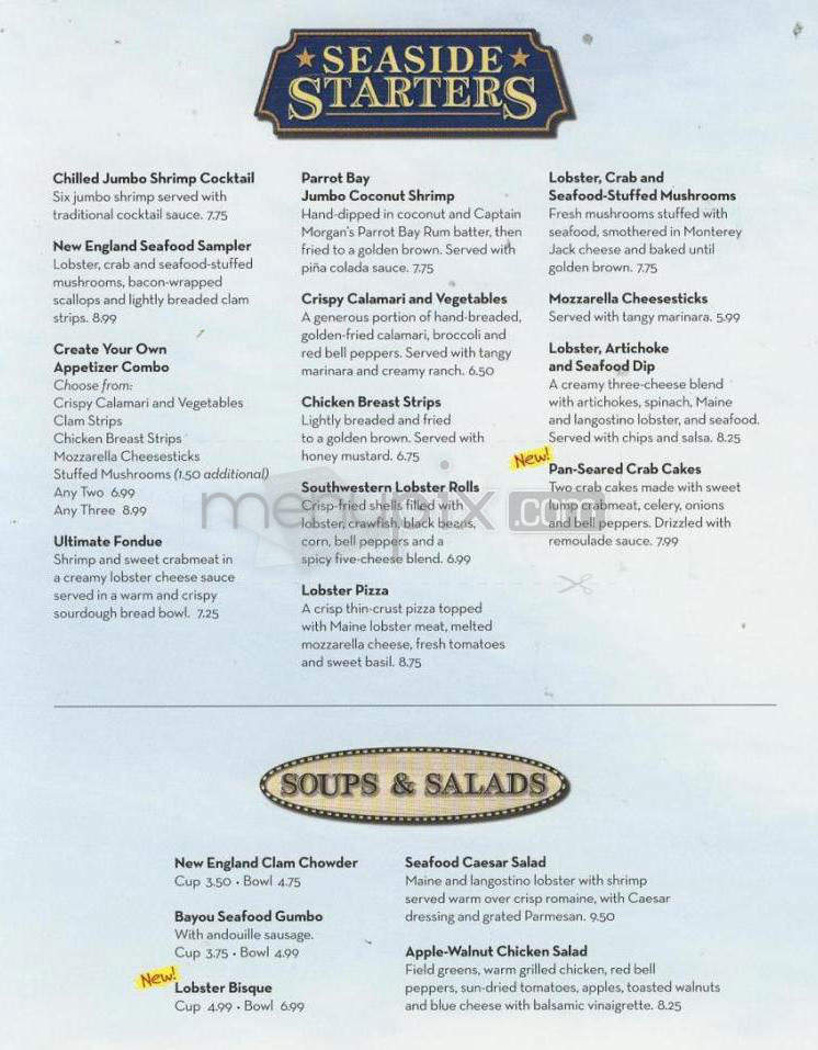 Online Menu Of Red Lobster Montclair Ca