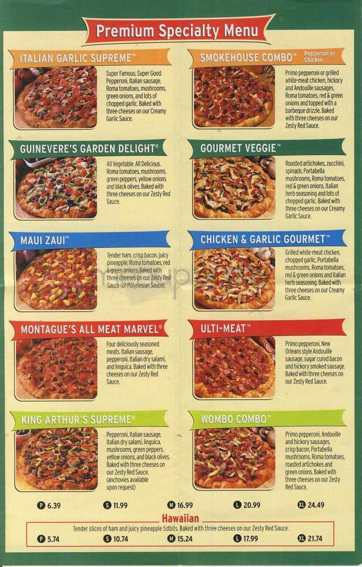 Online Menu Of Round Table Pizza Susanville Ca
