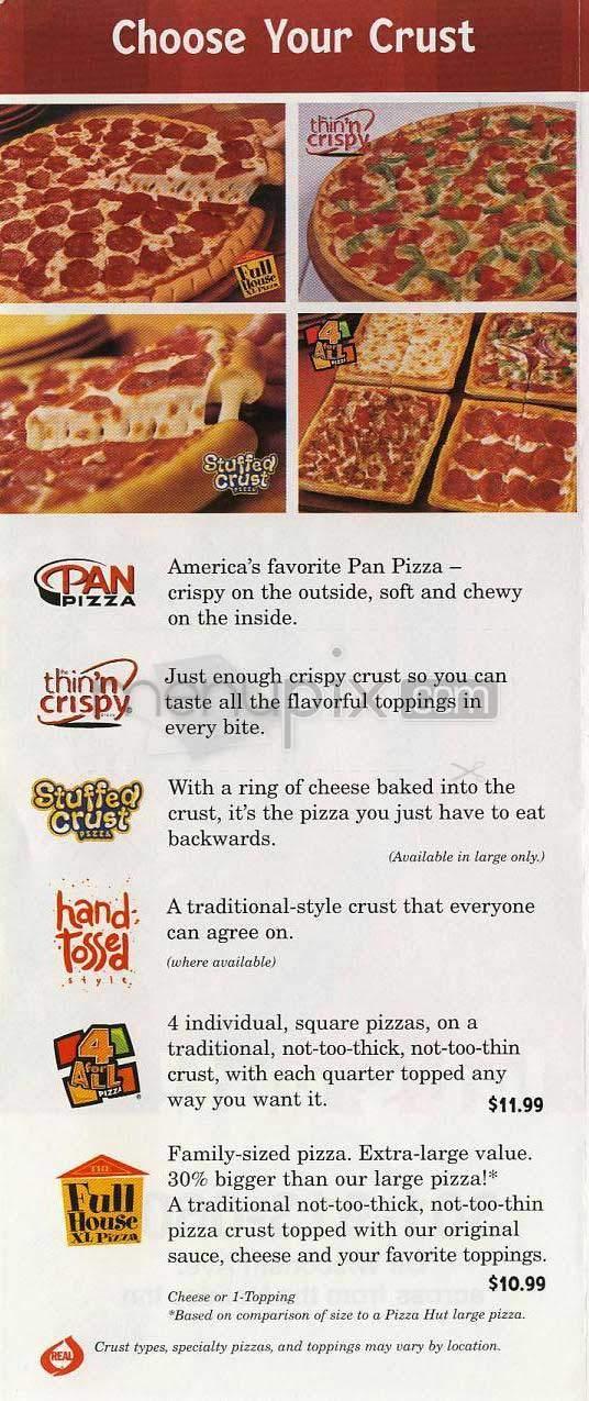 Online Menu Of Pizza Hut Locust Nc