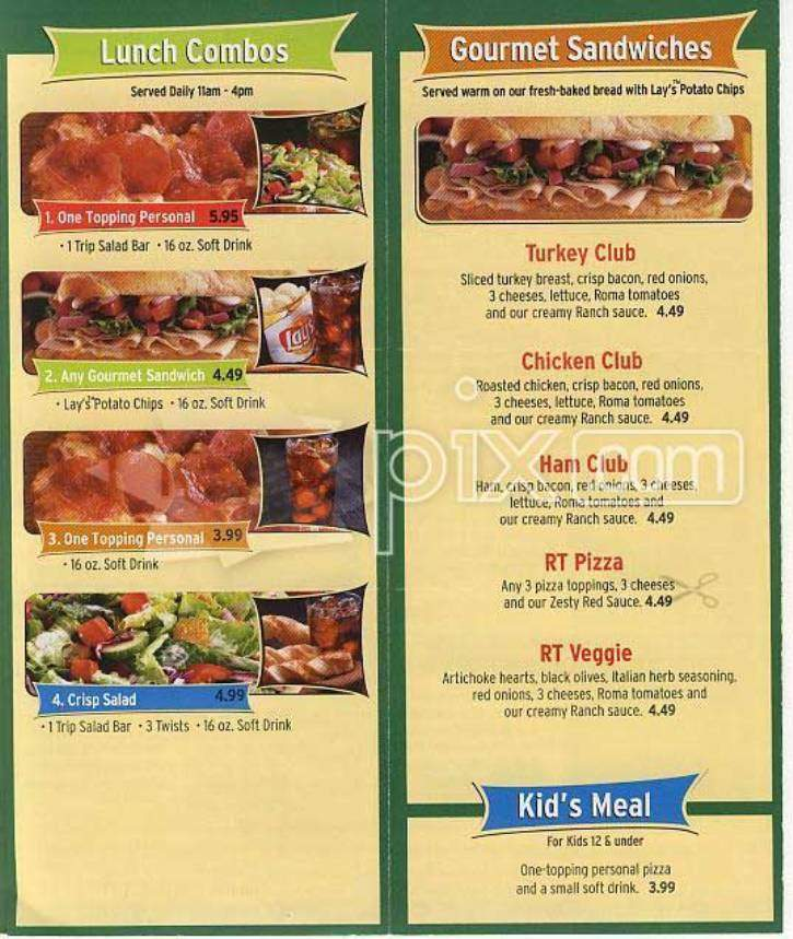 Online Menu Of Round Table Pizza Highland Ca
