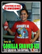 Gorilla Shaved Ice - Small User Photo