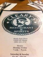 Cleary's Restaurant & Spirits - Small User Photo