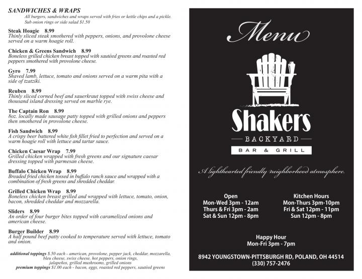 Photos for Shakers Backyard Bar & Grill, Youngstown, OH ...